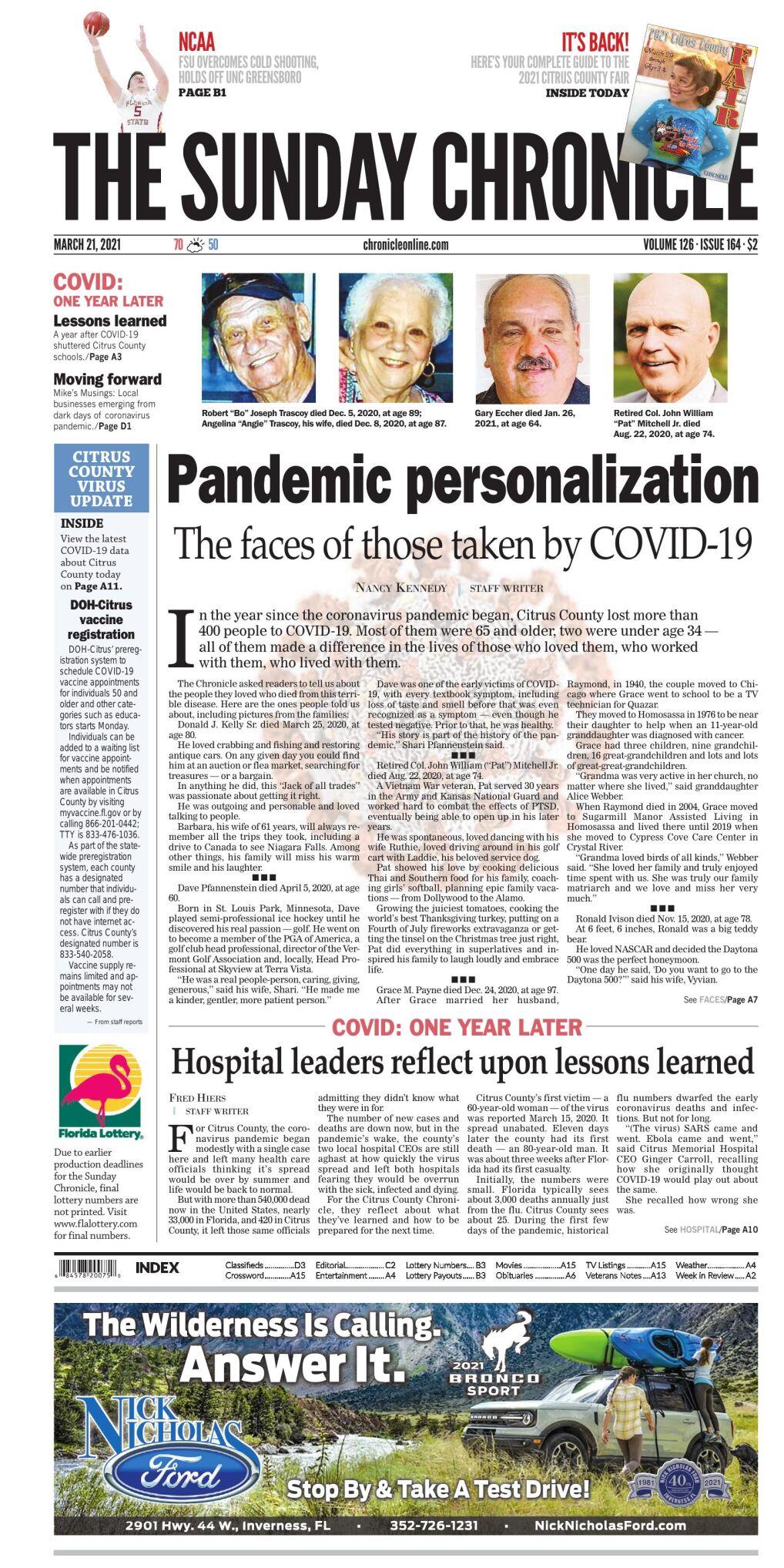 Citrus County Chronicle e edition Mar 21, 2021