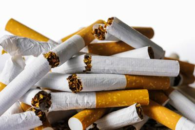 Pile of cigarettes for health