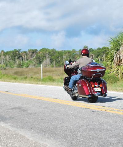Ride a motorcycle down Ozello Trail