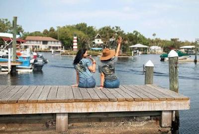 Fishing from the dock at Florida Cracker Resort