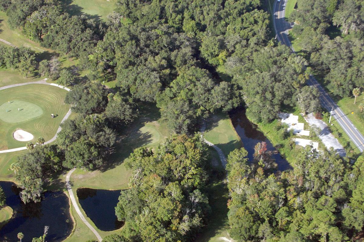 Plantation on Crystal River aerial