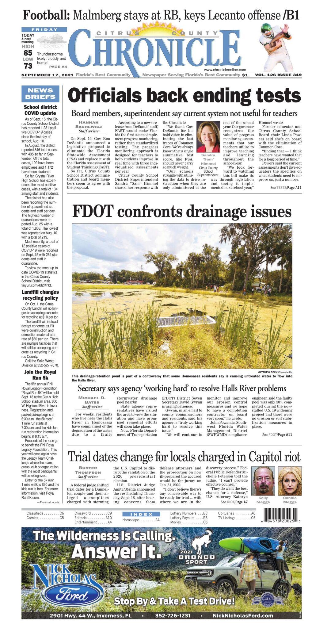 Citrus County Chronicle e-edition Sep 17, 2021
