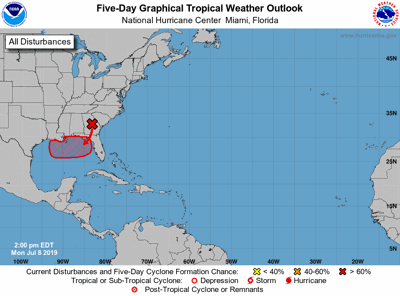Tropical weather outlook for Monday, July 8