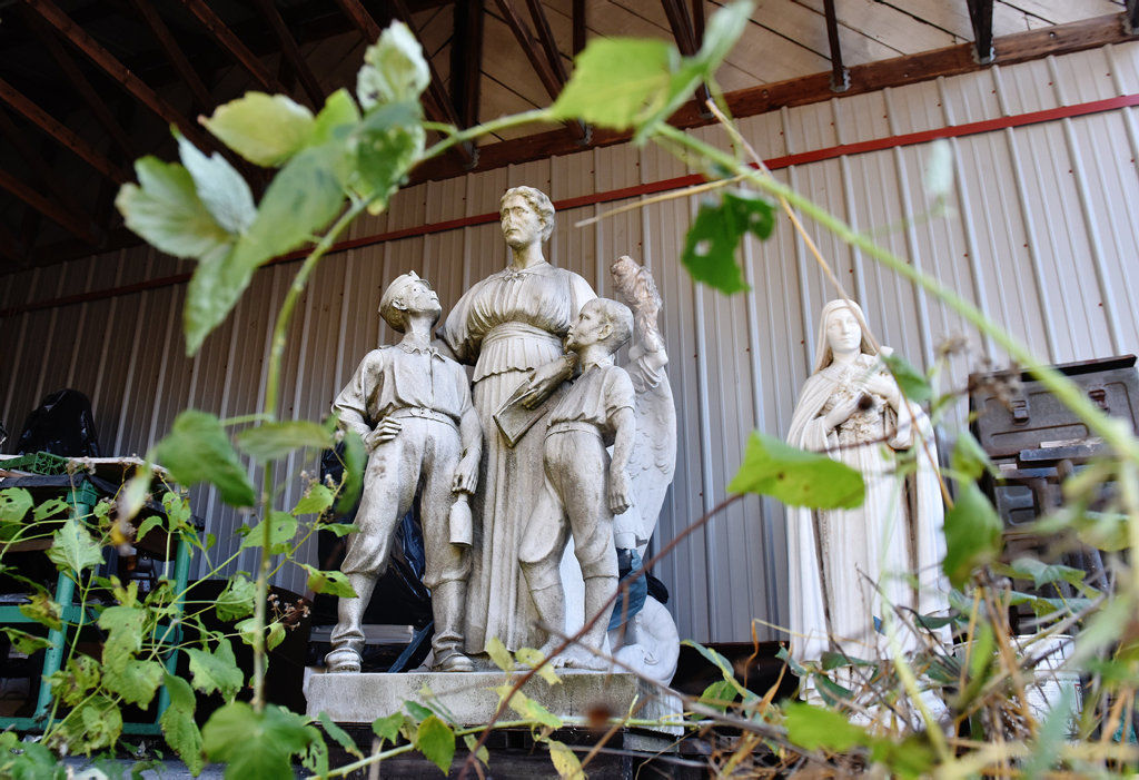 County has no plans to restore statue of Ellen Webster Palmer
