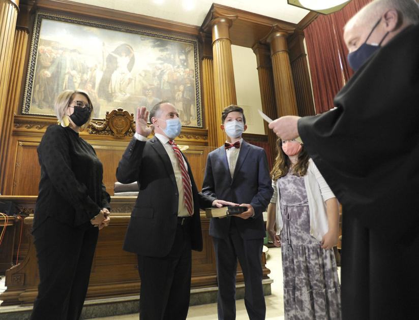 "New first assistant DA ""humbled"" by swearing-in ceremony"