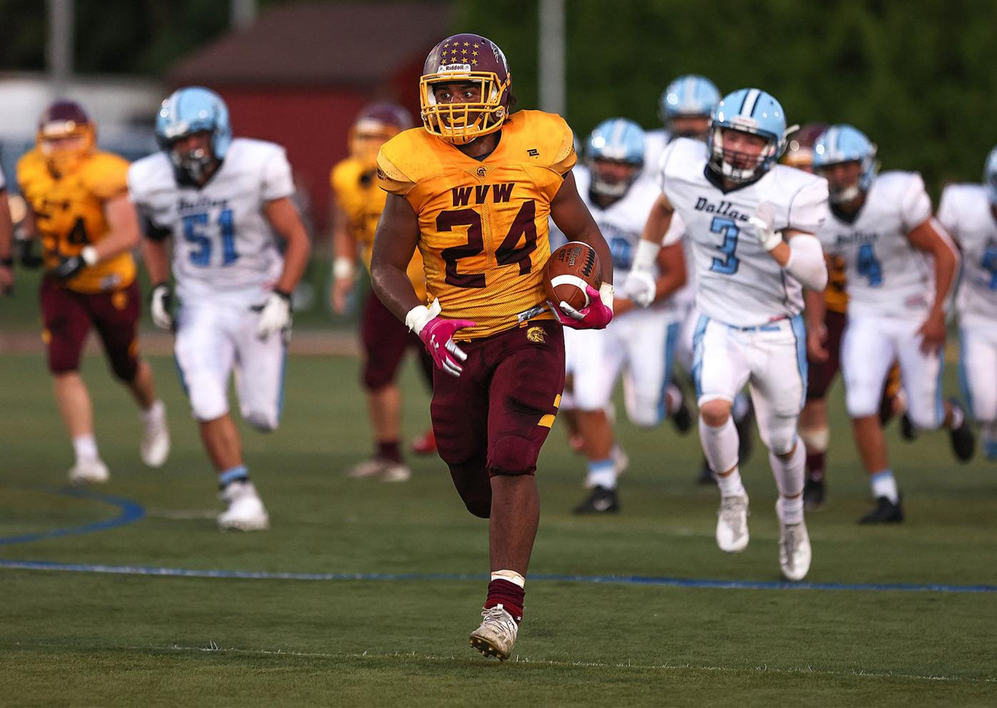 High School Football: Wyoming Valley West vs Dallas