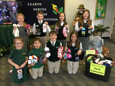 St. Jude students collect socks for a cause