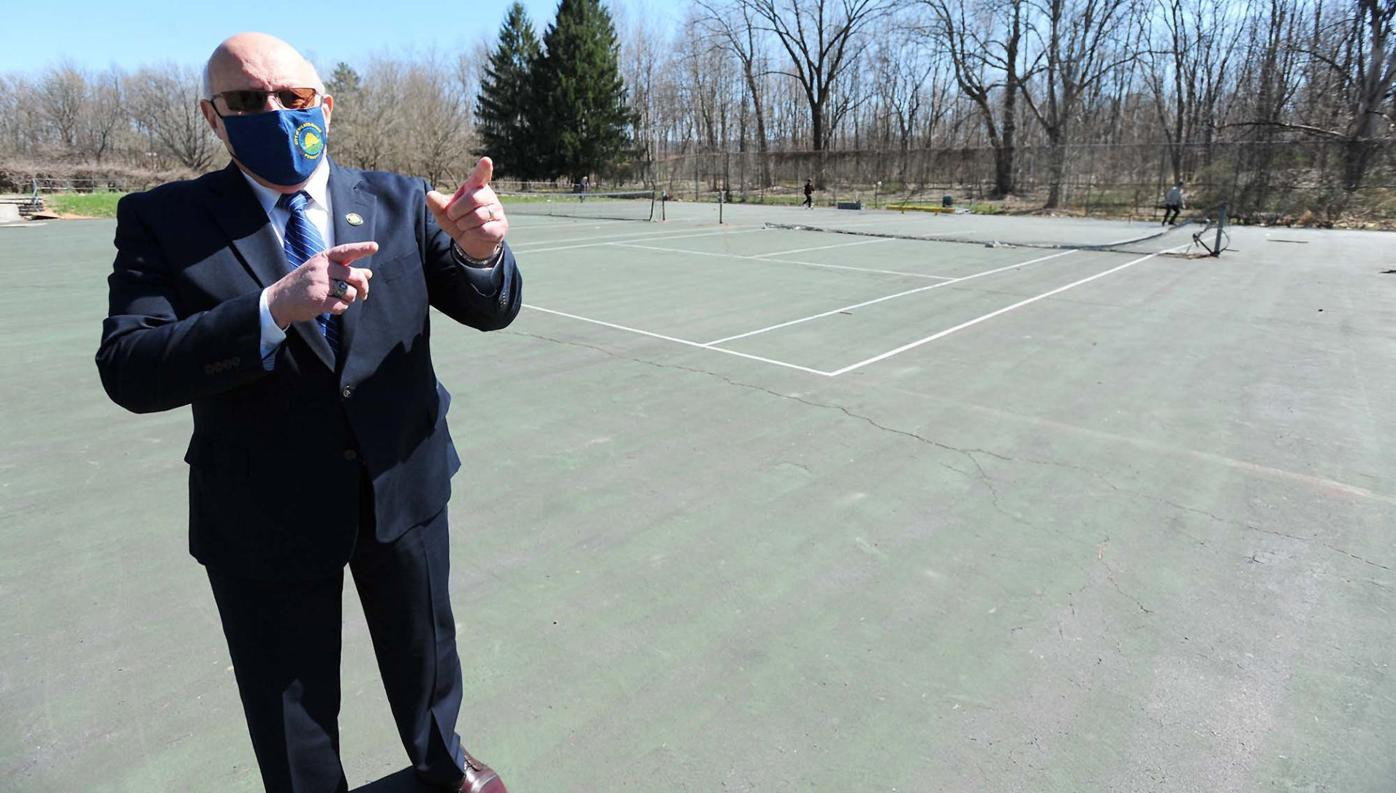 Mayor Brown talks about dismantling a skateboard area at Barney Farms Park