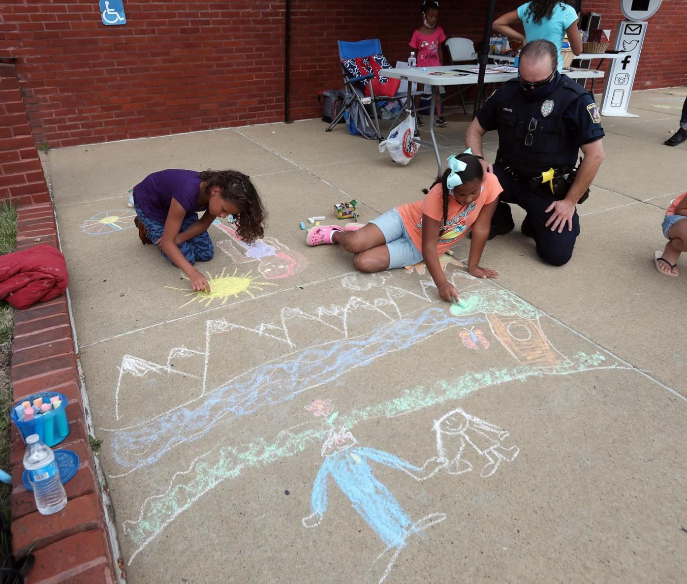 Chalk and Talk With The Wilkes-Barre Police 2020