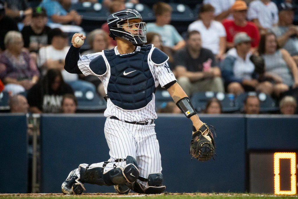 Yankees C Sanchez rehabs with RailRiders