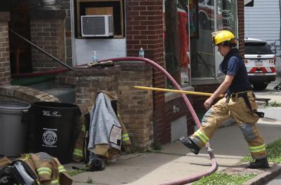 Crews battle blaze in Wilkes-Barre