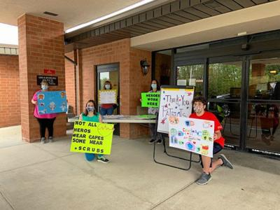Pittston Area students thank Wesley Village workers