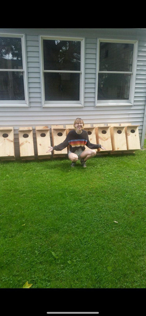 AMAZING KIDS: Brianna Weghorst built nesting boxes for wood ducks as her Girl Scouts service project
