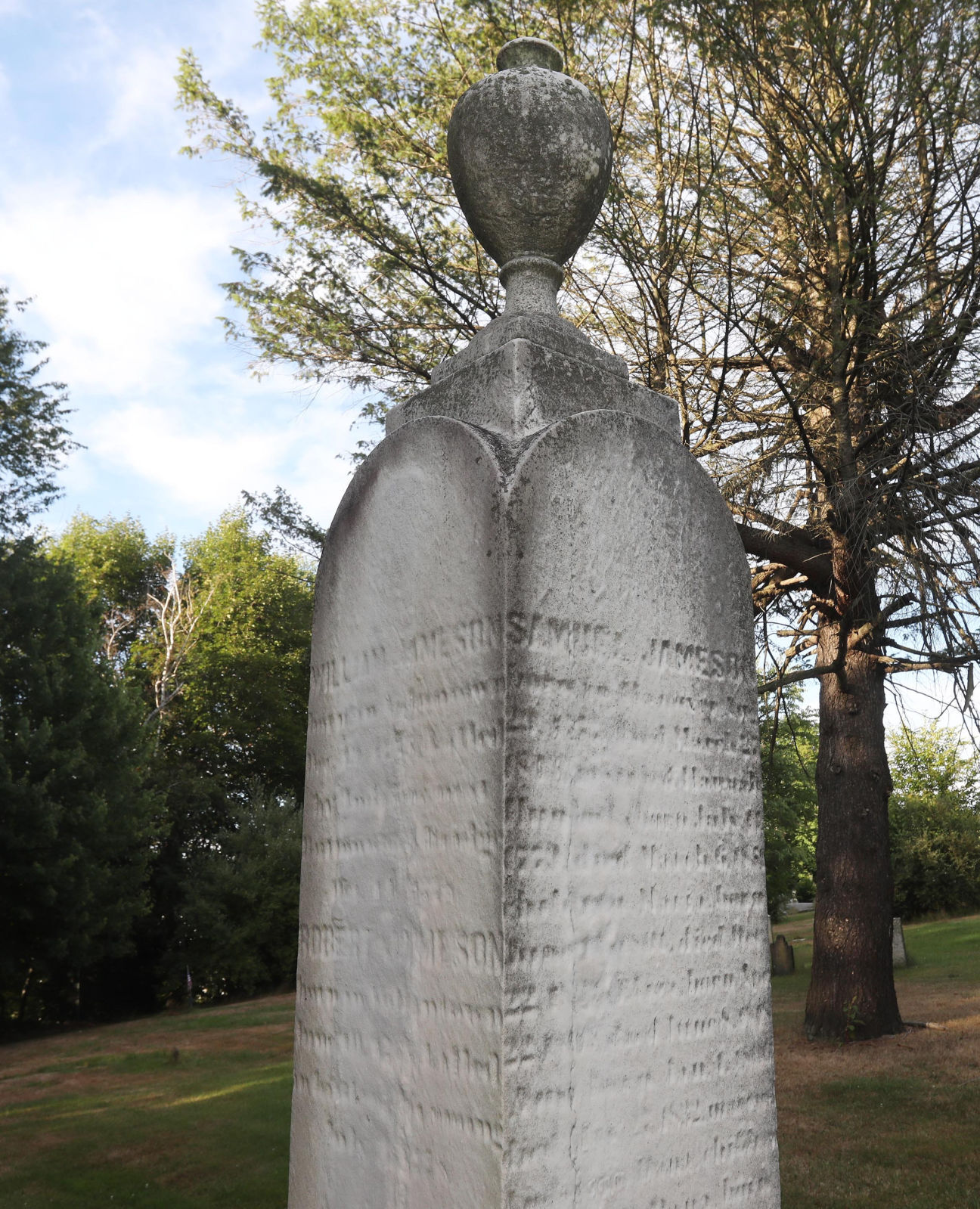 An early settler's sacrifice: DAR headstone remembers a turbulent period in local history