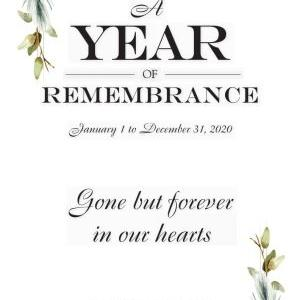 A Year of Rememberance