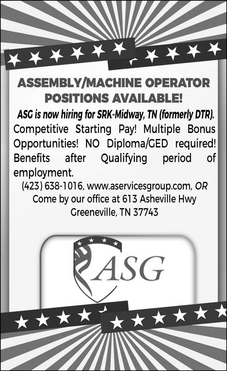 Assembly / Machine Operator Position
