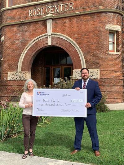 Rose Center receives check from First Horizon Foundation