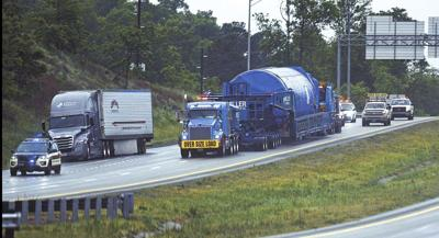 Super loads coming through Lakeway to Kingsport plant