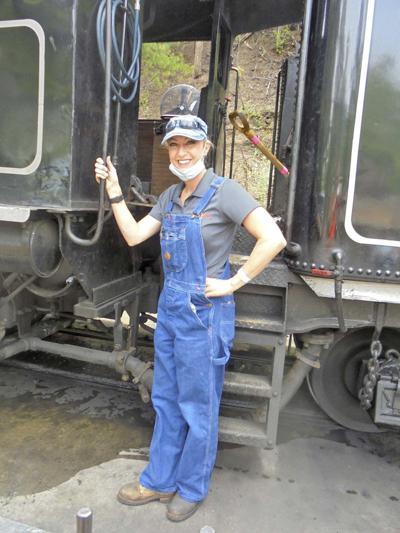 Julie Collins: Female steam locomotive engineer