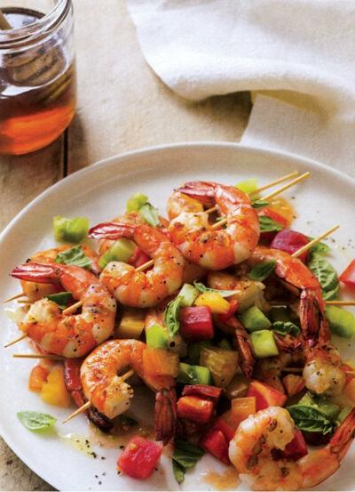 Toss some shrimp on the barbie at your next party