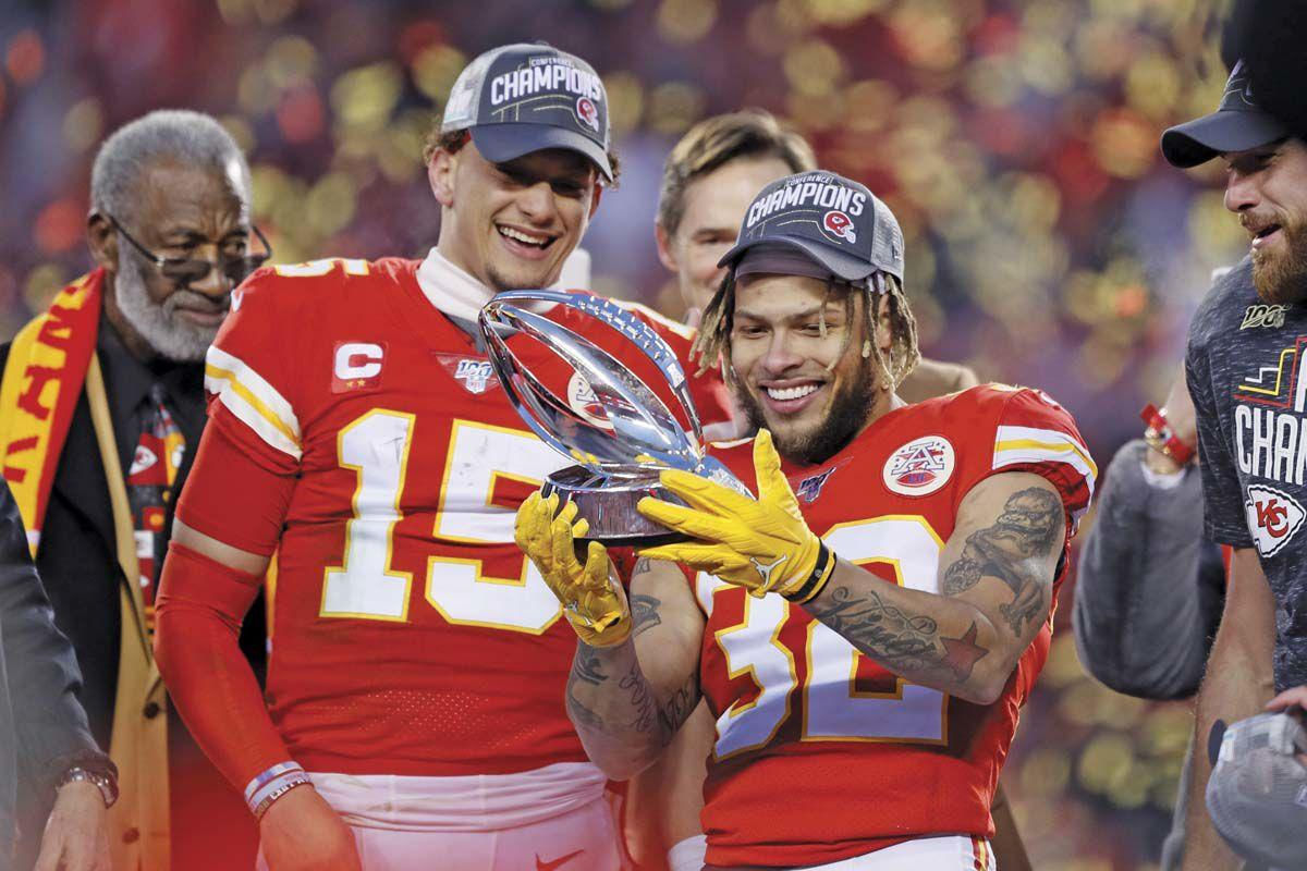 Mahomes' feet, arm lift Chiefs to Super Bowl over Titans