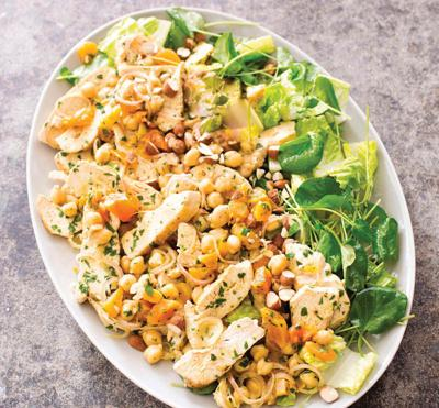 For a creative chicken salad, get inspiration from Morocco