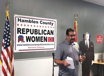 Faison talks to Republican women