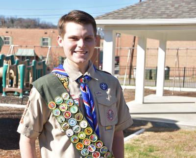 Keck, scouts build pavilion at First United Methodist Church