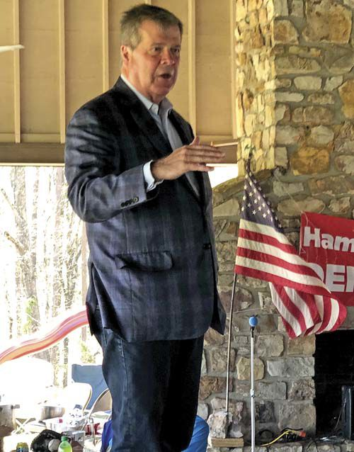 Dean speaks at Democratic fish fry