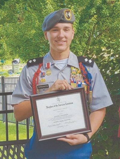 Grainger JROTC Cadet awarded by NSDAR