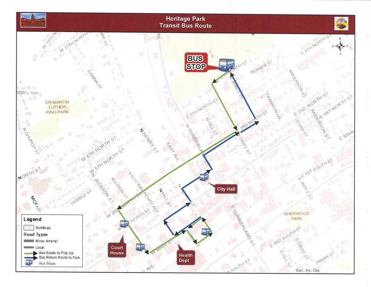 City officials discuss busing route for Heritage Park celebration