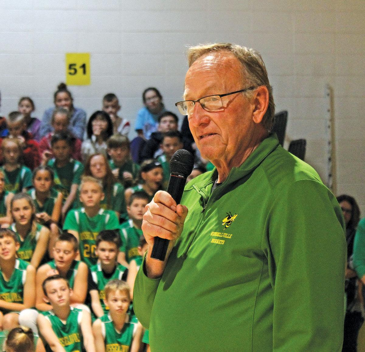 Russellville Elementary gymnasium renamed for long-time coach and principal Sammie Taylor