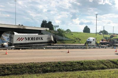 Truck plunges off overpass | Local News | citizentribune com