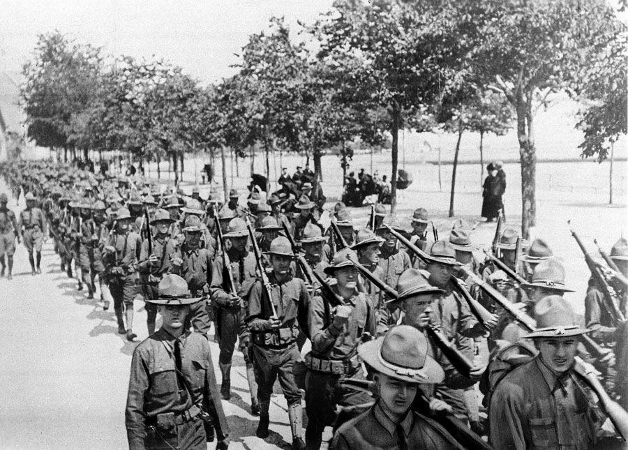 WWI U.S. TROOPS ARRIVE FRANCE