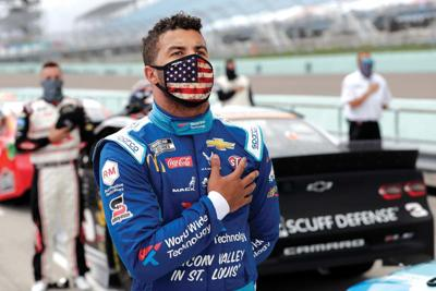 Kamara lauds Wallace's courage after NASCAR's trying week