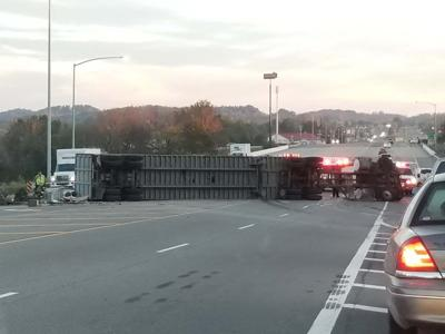 Tractor Trailer overturns | Local News | citizentribune com