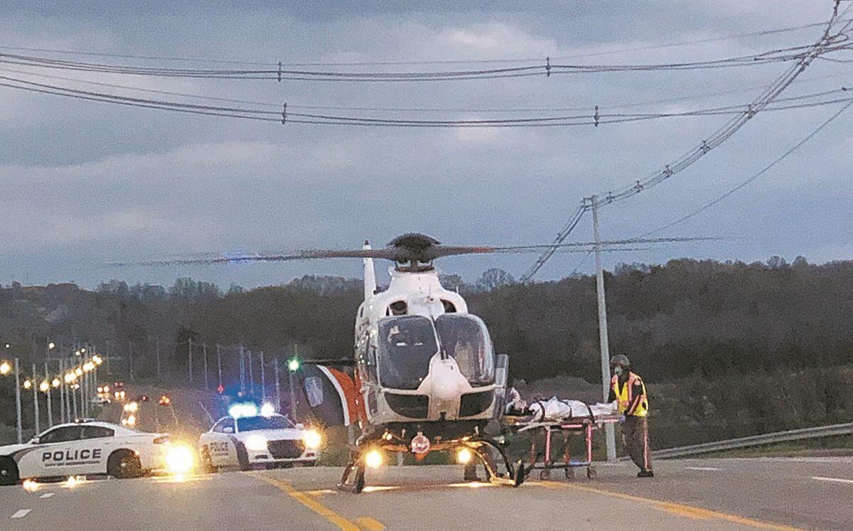 Man flown out after being struck by train near Merchant's Green
