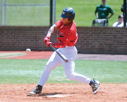 4aea81132 Walters State's Xavier Arnette (24) singles during the first game of  Saturday's TCCAA doubleheader against Motlow State at Ken Campbell Field.