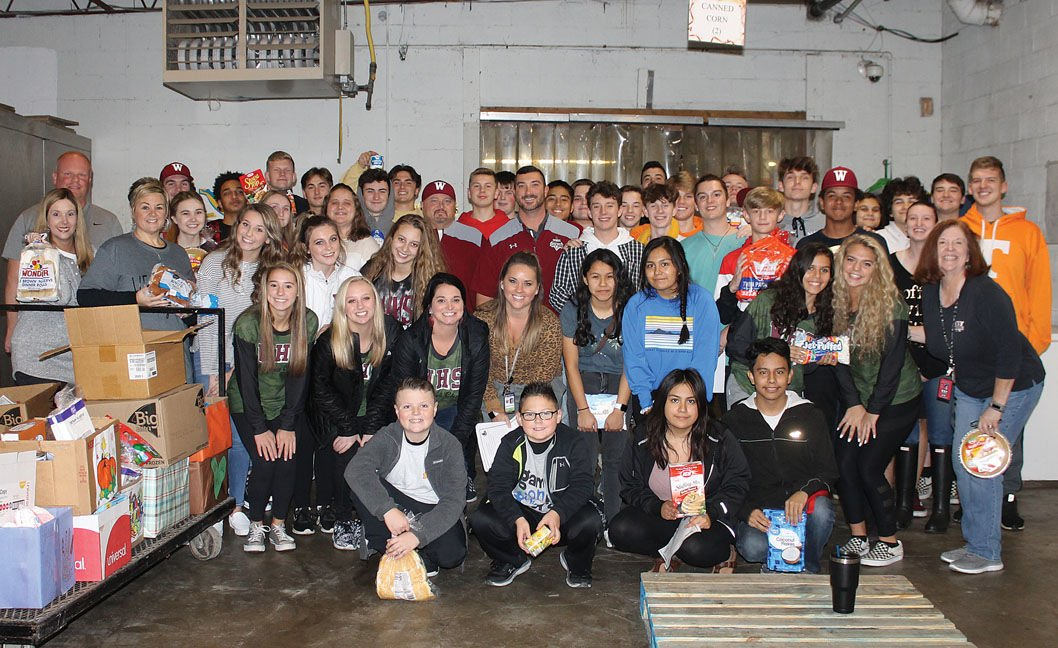 West students food drive benefits Central Services