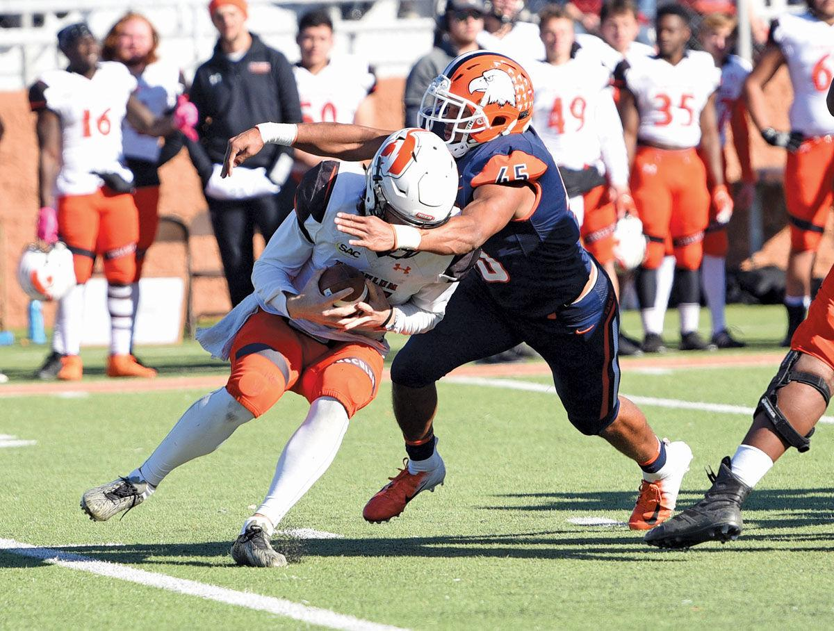 Eagles secure playoff spot with dominating 49-13 win over rival Tusculum