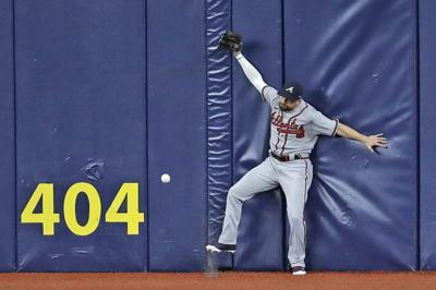 Renfroe homers twice, Rays fan 19 Braves in 14-5 romp