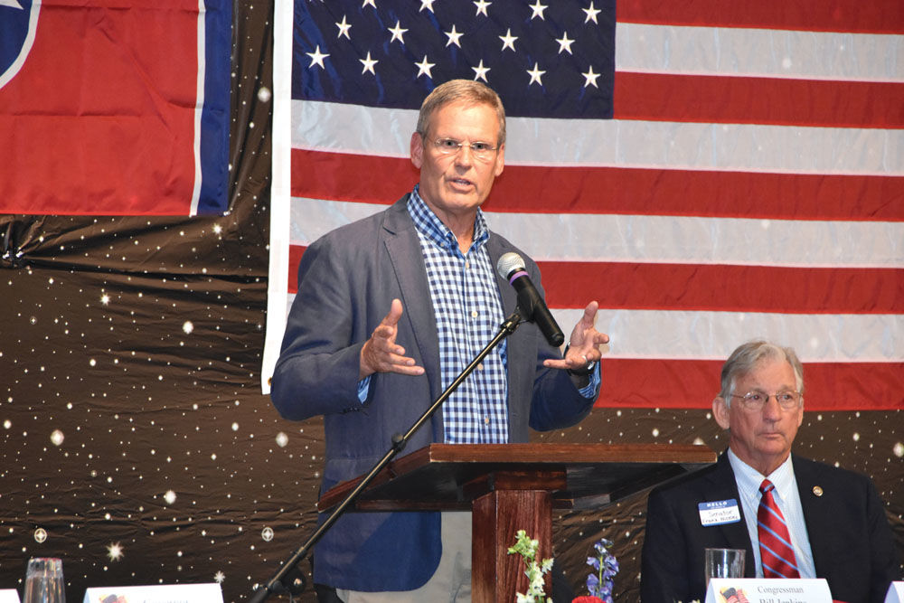 Lee delivers keynote at Hawkins Lincoln Reagan