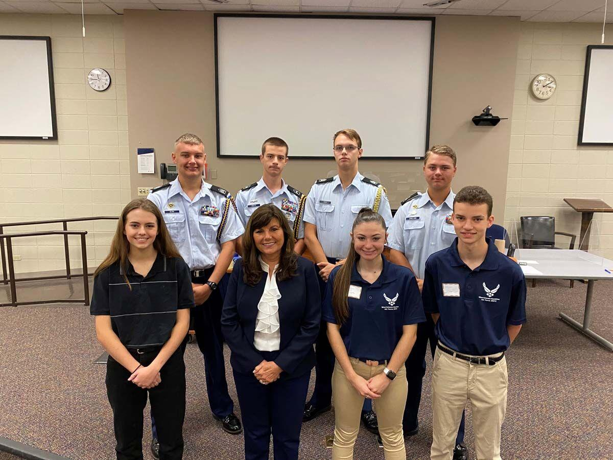 Harshbarger hosts Military Academy Service day