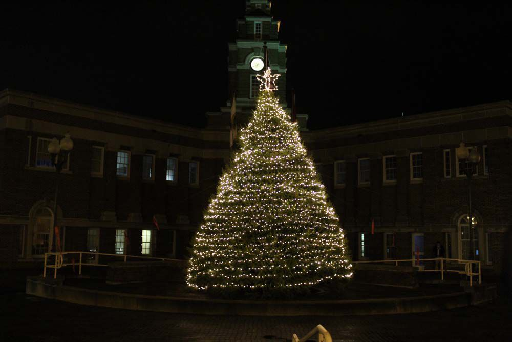 city celebrates season with tree lighting local news citizentribune com