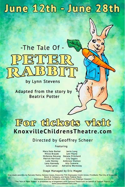 'The Tale of Peter Rabbit' to be on stage at Knoxville Children's Theatre June 12-28