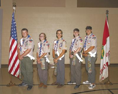 First UMC Morristown honors five Eagle Scouts