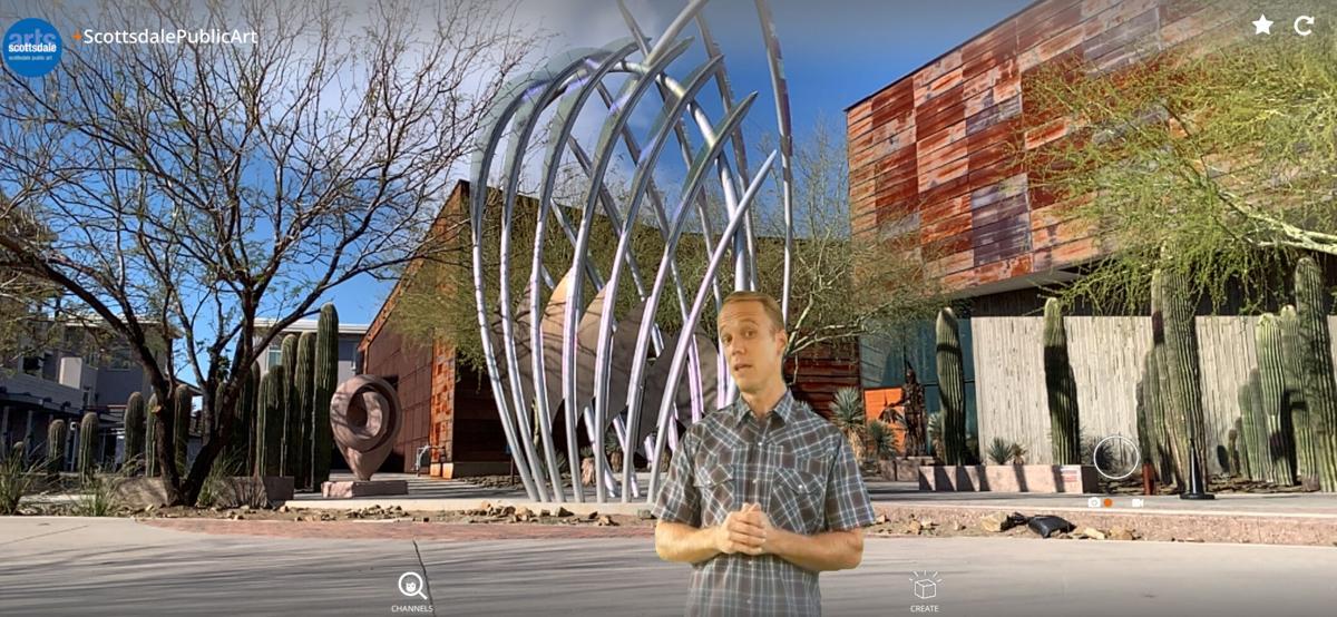 Diamond Bloom by Curtis Pittman with AR -- Scottsdale Arts