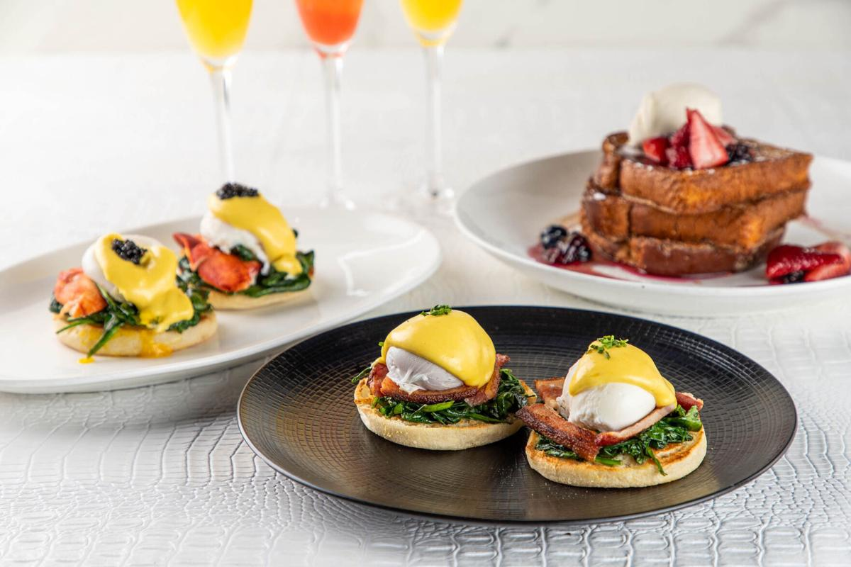 STK_Brunch- Eggs Benedict Mimosa and Waffles