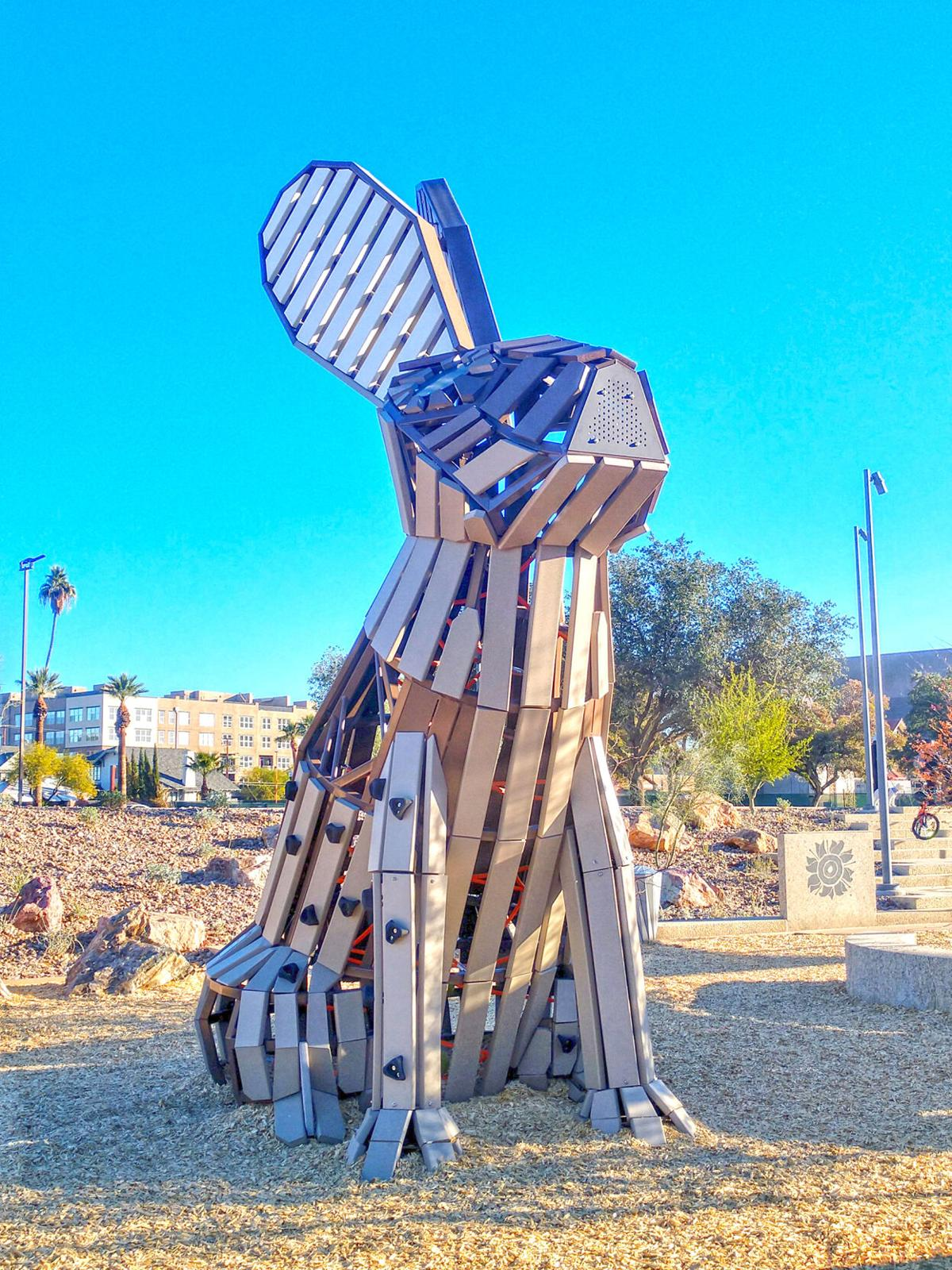 The Black-Tailed Jackrabbit play structure at Hance Park