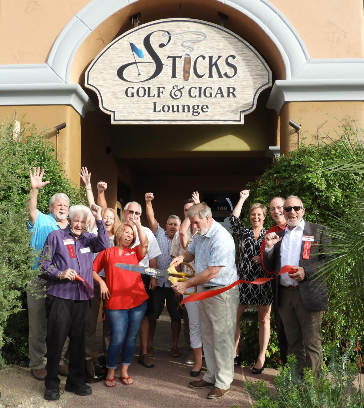 Stick's Golf and Cigar Lounge ribbon-cutting 2